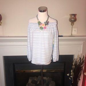 Cece | Women's Striped Off the Shoulder Top